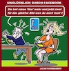 Cartoon: Facebook (small) by cartoonharry tagged facebook,glück,likes