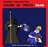 Cartoon: Hours of Truth SAAB (small) by cartoonharry tagged müller,saab,truth,cartoon,cartoonist,cartoonharry,work,jobless,dutch,sweden,toonpool