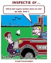 Cartoon: Inspectie of .... (small) by cartoonharry tagged inspectie,cartoonharry
