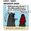 Cartoon: Khadaffi Dead (small) by cartoonharry tagged khadaffi,dead,libya,cartoon,cartoonist,cartoonharry,dutch,toonpool