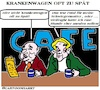 Cartoon: Krankenwagen (small) by cartoonharry tagged schwiegermutter,krankenwagen