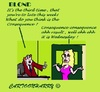 Cartoon: Late (small) by cartoonharry tagged consequence,late,result,chef,girl,blond