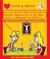 Cartoon: Love and Trust (small) by cartoonharry tagged trust,love,cartoonharry
