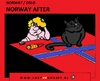 Cartoon: Norway After (small) by cartoonharry tagged norway,oslo,attacks,idiot,nightmares,blackcat,hangover,cartoon,cartoonist,cartoonharry,dutch,toonpool