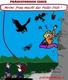 Cartoon: Paläo Diät (small) by cartoonharry tagged paläo,diät,mann,frau,bergsport