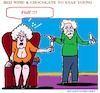 Cartoon: Red Wein and (small) by cartoonharry tagged red,wine,chocolate