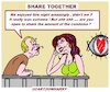 Cartoon: Share Together (small) by cartoonharry tagged together,cartoonharry
