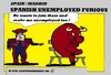 Cartoon: Spanish Problems (small) by cartoonharry tagged youth,toro,matador,spanish,spain,unemployment,cartoon,man,cartoonist,cartoonharry,dutch,toonpool