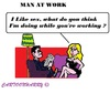 Cartoon: Working (small) by cartoonharry tagged sex,work,like