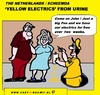Cartoon: Yellow Electricity (small) by cartoonharry tagged electricity,holland,cartoon,free,cartoonist,cartoonharry,dutch,sign,toonpool