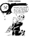 Cartoon: Italy is adoring now (small) by Zombi tagged moon,berlusconi,jack,pot,italy,italie,bankruptcy