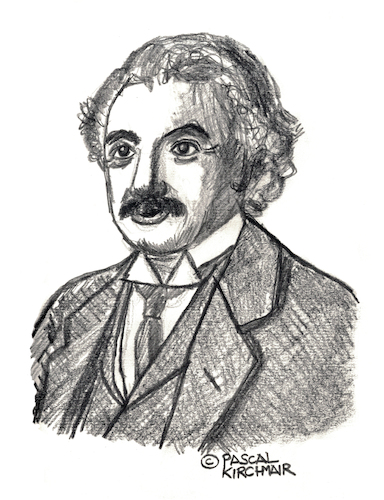 Cartoon: Albert Einstein (medium) by Pascal Kirchmair tagged albert,einstein,drawing,illustration,portrait,retrato,dibujo,pascal,kirchmair,dessin,portret,tekening,cartum,ink,desenho,ilustracion,ilustracao,ritratto,albert,einstein,drawing,illustration,portrait,retrato,dibujo,pascal,kirchmair,dessin,portret,tekening,cartum,ink,desenho,ilustracion,ilustracao,ritratto