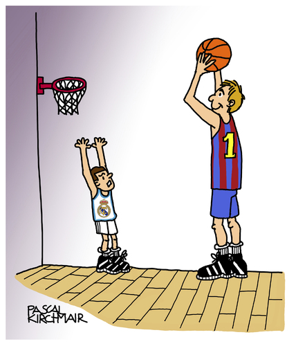 Cartoon: Basketball (medium) by Pascal Kirchmair tagged regal,fc,barcelona,real,madrid,baloncesto,basketball,cartoon,caricature,karikatur,regal,fc,barcelona,real,madrid,baloncesto,basketball,cartoon,caricature,karikatur