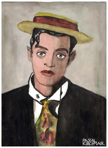 Cartoon: Buster Keaton (medium) by Pascal Kirchmair tagged hut,porkpie,karikatur,caricature,cartoon,disegno,desenho,dibujo,dessin,watercolour,aquarell,zeichnung,drawing,ritratto,komiker,stummfilm,california,acteur,schauspieler,actor,kansas,hollywood,hat,piqua,pie,pork,retrato,portrait,stoic,keaton,buster,buster,keaton,stoic,portrait,retrato,pork,pie,piqua,hat,hollywood,kansas,actor,schauspieler,acteur,california,stummfilm,komiker,ritratto,drawing,zeichnung,aquarell,watercolour,dessin,dibujo,desenho,disegno,cartoon,caricature,karikatur,porkpie,hut
