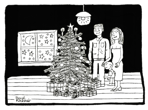 Cartoon: Christmas (medium) by Pascal Kirchmair tagged merry,christmas,xmas,card,frohe,weihnachten,weihnachtskarte,tarjeta,feliz,navidad,cartolina,buon,natale,cartao,de,natal,carte,joyeux,noel,illustration,drawing,zeichnung,pascal,kirchmair,political,cartoon,caricature,karikatur,ilustracion,dibujo,desenho,ink,disegno,ilustracao,illustrazione,illustratie,dessin,du,jour,art,of,the,day,tekening,teckning,cartum,vineta,comica,vignetta,caricatura,kunst,merry,christmas,xmas,card,frohe,weihnachten,weihnachtskarte,tarjeta,feliz,navidad,cartolina,buon,natale,cartao,de,natal,carte,joyeux,noel,illustration,drawing,zeichnung,pascal,kirchmair,political,cartoon,caricature,karikatur,ilustracion,dibujo,desenho,ink,disegno,ilustracao,illustrazione,illustratie,dessin,du,jour,art,of,the,day,tekening,teckning,cartum,vineta,comica,vignetta,caricatura,kunst