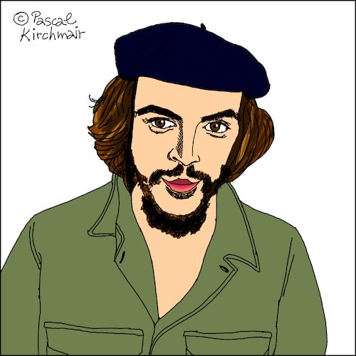 Cartoon: Ernesto Che Guevara (medium) by Pascal Kirchmair tagged kuba,cuba,libre,havanna,habana,havana,la,avana,ernesto,che,guevara,caricatura,karikatur,portrait,retrato,dibujo,drawing,illustration,cartoon,cartum,dessin,ritratto,porträt,caricature,zeichnung,desenho,disegno,ilustracion,illustrazione,ilustracao,kuba,cuba,libre,havanna,habana,havana,la,avana,ernesto,che,guevara,caricatura,karikatur,portrait,retrato,dibujo,drawing,illustration,cartoon,cartum,dessin,ritratto,porträt,caricature,zeichnung,desenho,disegno,ilustracion,illustrazione,ilustracao