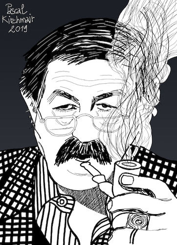 Cartoon: Günter Grass (medium) by Pascal Kirchmair tagged günter,grass,illustration,drawing,zeichnung,pascal,kirchmair,cartoon,caricature,karikatur,ilustracion,dibujo,desenho,ink,disegno,ilustracao,illustrazione,illustratie,dessin,de,presse,du,jour,art,of,the,day,tekening,teckning,cartum,vineta,comica,vignetta,caricatura,portrait,retrato,ritratto,portret,kunst,writer,author,autor,autore,auteur,schriftsteller,danzig,lübeck,germany,deutschland,nobel,prize,literature,literatur,premio,prix,literatura,nobelpreis,beim,häuten,der,zwiebel,blechtrommel,tin,drum,günter,grass,illustration,drawing,zeichnung,pascal,kirchmair,cartoon,caricature,karikatur,ilustracion,dibujo,desenho,ink,disegno,ilustracao,illustrazione,illustratie,dessin,de,presse,du,jour,art,of,the,day,tekening,teckning,cartum,vineta,comica,vignetta,caricatura,portrait,retrato,ritratto,portret,kunst,writer,author,autor,autore,auteur,schriftsteller,danzig,lübeck,germany,deutschland,nobel,prize,literature,literatur,premio,prix,literatura,nobelpreis,beim,häuten,der,zwiebel,blechtrommel,tin,drum