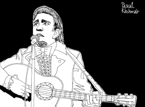 Cartoon: Johnny Cash (medium) by Pascal Kirchmair tagged usa,johnny,cash,singer,songwriter,civil,rights,movement,rhythm,and,blues,folk,gospel,pop,cartoon,caricature,karikatur,ilustracion,illustration,pascal,kirchmair,dibujo,desenho,drawing,zeichnung,disegno,ilustracao,illustrazione,illustratie,dessin,de,presse,du,jour,art,of,the,day,tekening,teckning,cartum,vineta,comica,vignetta,caricatura,humor,humour,political,portrait,retrato,ritratto,portret,porträt,artiste,artista,artist,rock,roll,crossover,hall,fame,man,in,black,country,music,musik,icon,ikone,san,quentin,usa,johnny,cash,singer,songwriter,civil,rights,movement,rhythm,and,blues,folk,gospel,pop,cartoon,caricature,karikatur,ilustracion,illustration,pascal,kirchmair,dibujo,desenho,drawing,zeichnung,disegno,ilustracao,illustrazione,illustratie,dessin,de,presse,du,jour,art,of,the,day,tekening,teckning,cartum,vineta,comica,vignetta,caricatura,humor,humour,political,portrait,retrato,ritratto,portret,porträt,artiste,artista,artist,rock,roll,crossover,hall,fame,man,in,black,country,music,musik,icon,ikone,san,quentin