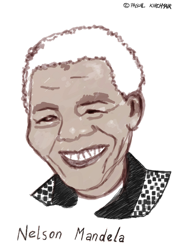 Cartoon: Madiba (medium) by Pascal Kirchmair tagged south,africa,afrique,du,sud,südafrika,african,national,congress,nelson,mandela,madiba,anc,caricature,karikatur,cartoon,vignetta,politik,friedensnobelpreis