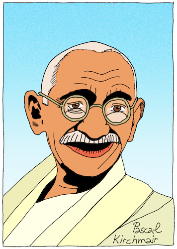 Cartoon: Mahatma Gandhi (medium) by Pascal Kirchmair tagged mahatma,gandhi,cartoon,caricature,karikatur,dibujo,drawing,retrato,portrait,pascal,kirchmair,vignetta,ritratto,india,indien,asket,pazifistischer,widerstand,nonviolent,civil,pacifist,disobedience,zeichnung,disegno,dessin,desenho,mahatma,gandhi,cartoon,caricature,karikatur,dibujo,drawing,retrato,portrait,pascal,kirchmair,vignetta,ritratto,india,indien,asket,pazifistischer,widerstand,nonviolent,civil,pacifist,disobedience,zeichnung,disegno,dessin,desenho