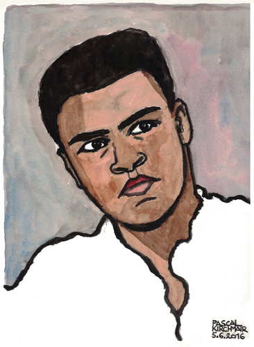 Cartoon: Muhammad Ali (medium) by Pascal Kirchmair tagged muhammad,ali,cassius,clay,portrait,caricature,karikatur,cartoon,vignetta,usa,legend,boxing,boxer,watercolour,aquarell,vietnam,war,sport,muhammad,ali,cassius,clay,portrait,caricature,karikatur,cartoon,vignetta,usa,legend,boxing,boxer,watercolour,aquarell,vietnam,war,sport