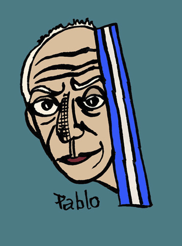 Cartoon: Pablo (medium) by Pascal Kirchmair tagged hommage,picasso,pablo,homage,kunst,künstler,spanien,spain,espagne,espana,barcelona,paris,art,artist,artiste,artista,painter,peintre,pittore,digital,drawing,cartoon,zeichnung,photoshop
