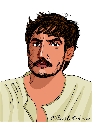 Cartoon: Pedro Pascal (medium) by Pascal Kirchmair tagged pedro,pascal,caricature,cartoon,illustration,vignetta,karikatur,drawing,dibujo,portrait,retrato,ritratto,zeichnung,dessin,desenho,disegno,porträt,portret,chile,usa,california,hollywood,kalifornien,santiago,pedro,pascal,caricature,cartoon,illustration,vignetta,karikatur,drawing,dibujo,portrait,retrato,ritratto,zeichnung,dessin,desenho,disegno,porträt,portret,chile,usa,california,hollywood,kalifornien,santiago