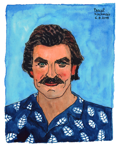 Cartoon: Thomas Magnum (medium) by Pascal Kirchmair tagged thomas,sullivan,magnum,tom,selleck,hawaii,private,investigator,tv,television,series,illustration,drawing,zeichnung,pascal,kirchmair,irische,impressionen,cartoon,caricature,karikatur,ilustracion,dibujo,desenho,ink,disegno,ilustracao,illustrazione,illustratie,dessin,de,presse,du,jour,art,of,the,day,tekening,teckning,cartum,vineta,comica,vignetta,caricatura,portrait,retrato,ritratto,portret,aquarelle,watercolor,watercolour,acquarello,acuarela,aguarela,aquarela,thomas,sullivan,magnum,tom,selleck,hawaii,private,investigator,tv,television,series,illustration,drawing,zeichnung,pascal,kirchmair,irische,impressionen,cartoon,caricature,karikatur,ilustracion,dibujo,desenho,ink,disegno,ilustracao,illustrazione,illustratie,dessin,de,presse,du,jour,art,of,the,day,tekening,teckning,cartum,vineta,comica,vignetta,caricatura,portrait,retrato,ritratto,portret,aquarelle,watercolor,watercolour,acquarello,acuarela,aguarela,aquarela