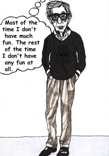 Cartoon: Woody Allen (medium) by Pascal Kirchmair tagged woody,allen