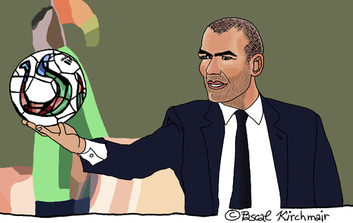 Cartoon: Zinedine Zidane (medium) by Pascal Kirchmair tagged zinedine,zidane,portrait,karikatur,caricature,cartoon,vignetta,france,frankreich,foot,football,soccer,real,madrid,trainer,sportler,fußball,zinedine,zidane,portrait,karikatur,caricature,cartoon,vignetta,france,frankreich,foot,football,soccer,real,madrid,trainer,sportler,fußball