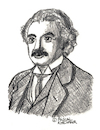Cartoon: Albert Einstein (small) by Pascal Kirchmair tagged albert einstein drawing illustration portrait retrato dibujo pascal kirchmair dessin portret tekening cartum ink desenho ilustracion ilustracao ritratto