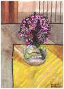 Cartoon: Bouquet of flowers (small) by Pascal Kirchmair tagged blumenstrauß,vase,aquarell,gouache,fleurs,flowers,watercolour,pascal,kirchmair,illustration,picture,painting,dipinto,pintura,peinture,cuadro,quadro