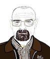 Cartoon: Breaking Bad (small) by Pascal Kirchmair tagged bryan,cranston,breaking,bad,walter,white,heisenberg,cartoon,caricature,karikatur,ilustracion,illustration,portrait,retrato,pascal,kirchmair,dibujo,desenho,drawing,zeichnung,ritratto,disegno,ilustracao,illustrazione,illustratie,dessin,du,jour,art,of,the,day,tekening,teckning,cartum,vineta,comica,vignetta,caricatura