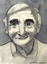 Cartoon: Charles Aznavour (small) by Pascal Kirchmair tagged charles,aznavour,chansonnier,karikatur,caricature,cartoon,portrait,frankreich,schauspieler,film,france,armenier,komponist,liedtexter
