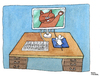 Cartoon: Cyber-attack (small) by Pascal Kirchmair tagged raton,katze,cat,maus,cyber,attack,mouse,computer,ordinateur,war,cartoon,caricature,karikatur