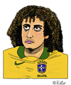 Cartoon: David Luiz (small) by Pascal Kirchmair tagged zeichnung david luiz karikatur caricature cartoon vignetta portrait fußball brasilien sao paulo dessin