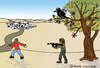 Cartoon: Antagonists (small) by Pascal Kirchmair tagged counterparts,gegner,feindschaft,enemies,crow,krähe,cartoon,widersacher,gegenspieler,antagonisten,karikatur,caricature,intifada,israel