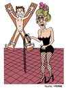 Cartoon: Domina (small) by Pascal Kirchmair tagged mistress,domina,sex,peitsche,bdsm,dominatrix,herrin,maitresse,sado,maso,studio