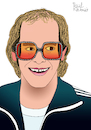 Cartoon: Elton John (small) by Pascal Kirchmair tagged sir elton hercules john candle in the wind was made england english great britain pop rock united kingdom london singer songwriter pianist composer illustration drawing zeichnung pascal kirchmair cartoon caricature karikatur ilustracion dibujo desenho ink disegno ilustracao illustrazione illustratie dessin de presse du jour art of day tekening teckning cartum vineta comica vignetta caricatura portrait portret retrato ritratto porträt