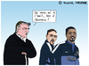 Cartoon: Equipe de France (small) by Pascal Kirchmair tagged frankreich fußball soccer football didier deschamps fff equipe de france foot evra ribery caricature dessin humour humor cartoon karikatur vignetta