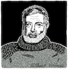 Cartoon: Ernest Hemingway (small) by Pascal Kirchmair tagged ernest,miller,hemingway,karikatur,portrait,caricature,retrato,dibujo,drawing,dessin,desenho,porträt,cartoon,zeichnung,ritratto,caricatura,portret,tekening,usa