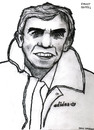 Cartoon: Ernst Happel (small) by Pascal Kirchmair tagged ernst franz hermann happel fc tirol innsbruck wien fußballtrainer coach feyenoord holland niederlande vizeweltmeister rapid pressing hollywood totale offensive rotterdam ado den haag grantler trainer soccer foot fußball football
