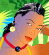 Cartoon: Fatoumata Diawara (small) by Pascal Kirchmair tagged fatoumata,diawara,illustration,drawing,zeichnung,pascal,kirchmair,cartoon,caricature,karikatur,ilustracion,dibujo,desenho,ink,disegno,ilustracao,illustrazione,illustratie,dessin,de,presse,du,jour,art,of,the,day,tekening,teckning,cartum,vineta,comica,vignetta,caricatura,portrait,retrato,ritratto,portret,kunst,singer,songwriter,music,musician,musik,musikerin,mali,ivory,coast,cote,ivoire,elfenbeinküste,porträt,exotic,exotisch,exotik,exotique,exotica,exotico,esotico,esotica