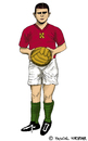 Cartoon: Ferenc Puskas (small) by Pascal Kirchmair tagged fußball spieler giocatore player calcio ferenc puskas cartoon karikatur caricatura foot football soccer hungary caricature