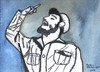 Cartoon: Fidel Castro (small) by Pascal Kirchmair tagged fidel,castro,kuba,cuba,speech,rede,caricature,karikatur,cartoon,aquarell,watercolour