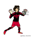 Cartoon: Guillermo Ochoa (small) by Pascal Kirchmair tagged goaltender goalkeeper guillermo ochoa torwart goalie mexico mexiko cartoon caricature karikatur football soccer fußball futebol futbol foot