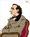 Cartoon: Hans Christian Andersen (small) by Pascal Kirchmair tagged hans,christian,andersen,portrait,retrato,drawing,dibujo,desenho,zeichnung,illustration,ilustracion,pascal,kirchmair,ilustracao,disegno,dessin,illustrazione,illustratie,tekening,teckning,portret,porträt,cartoon,caricature,karikatur,cartumn,ink,caricatura
