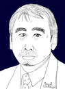 Cartoon: Haruki Murakami (small) by Pascal Kirchmair tagged haruki,murakami,portrait,caricature,karikatur,japan,schriftsteller,author,auteur,ecrivain,autor