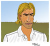 Cartoon: Herve Renard (small) by Pascal Kirchmair tagged herve,renard,losc,lille,entraineur,caricature,dessin,karikatur,cartoon,humour,foot,football,soccer,fußball