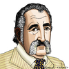 Cartoon: Ion Tiriac (small) by Pascal Kirchmair tagged ion,tiriac,karikatur,caricature,cartoon,portrait,zeichnung,tennis,manager,rumänien